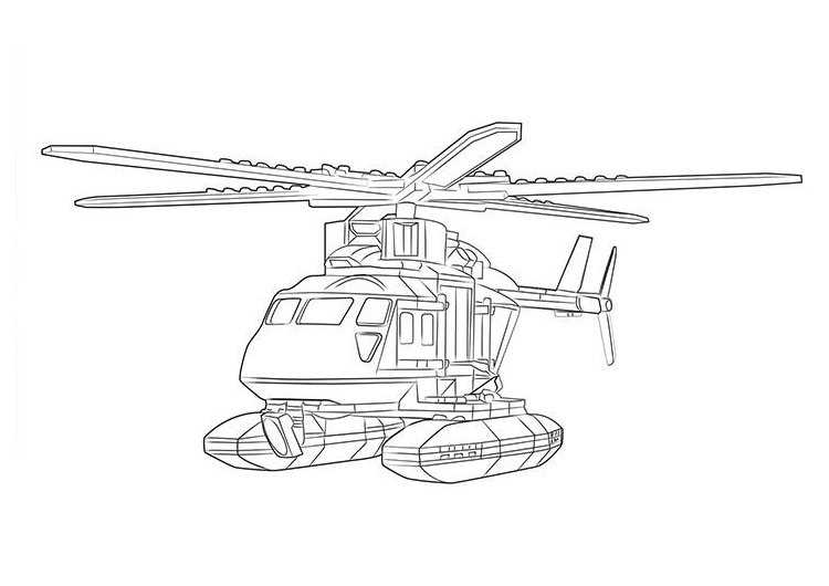 Printable Helicopter Coloring Pages for Lego Toy Lovers