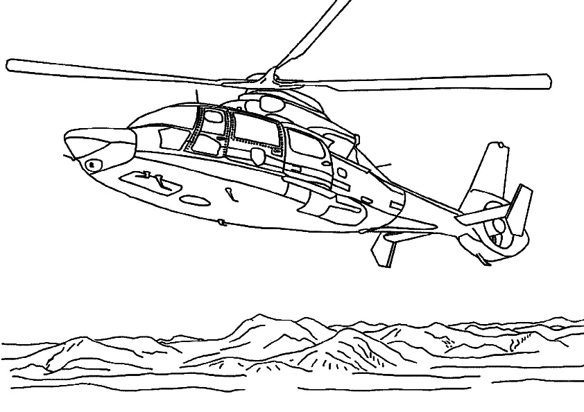 Printable Police Helicopter Coloring Pages Sea Operation and Rescue Helicopters