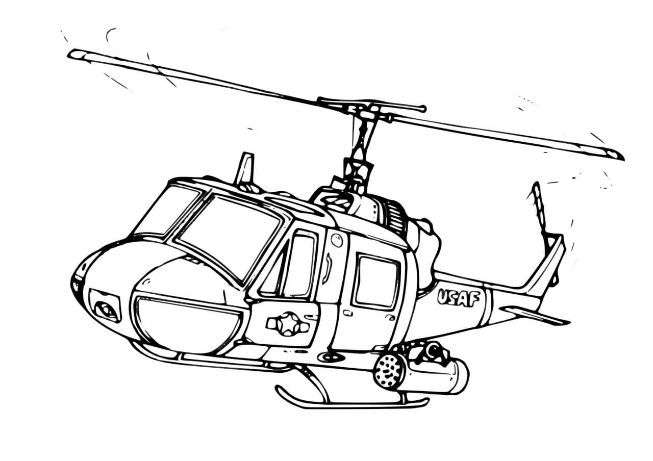 17 Helicopter Coloring Pages: All Categories Helicopters - Print Color Craft