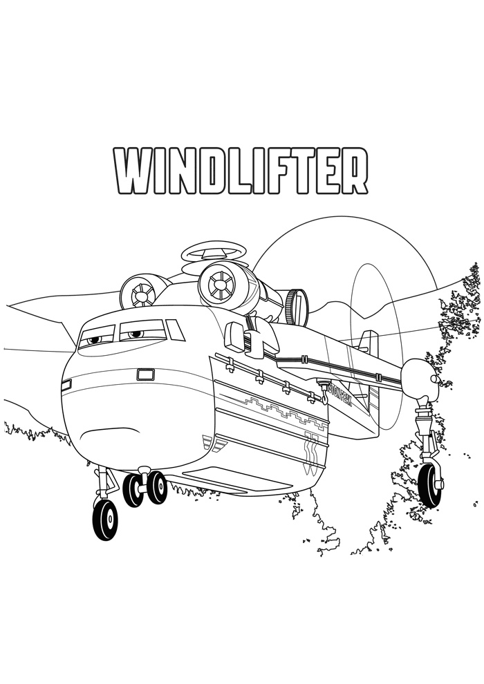 Windlifter Heavy Lift Printable Helicopter Coloring Pages Fire and Rescue Planes Helicopter Coloring