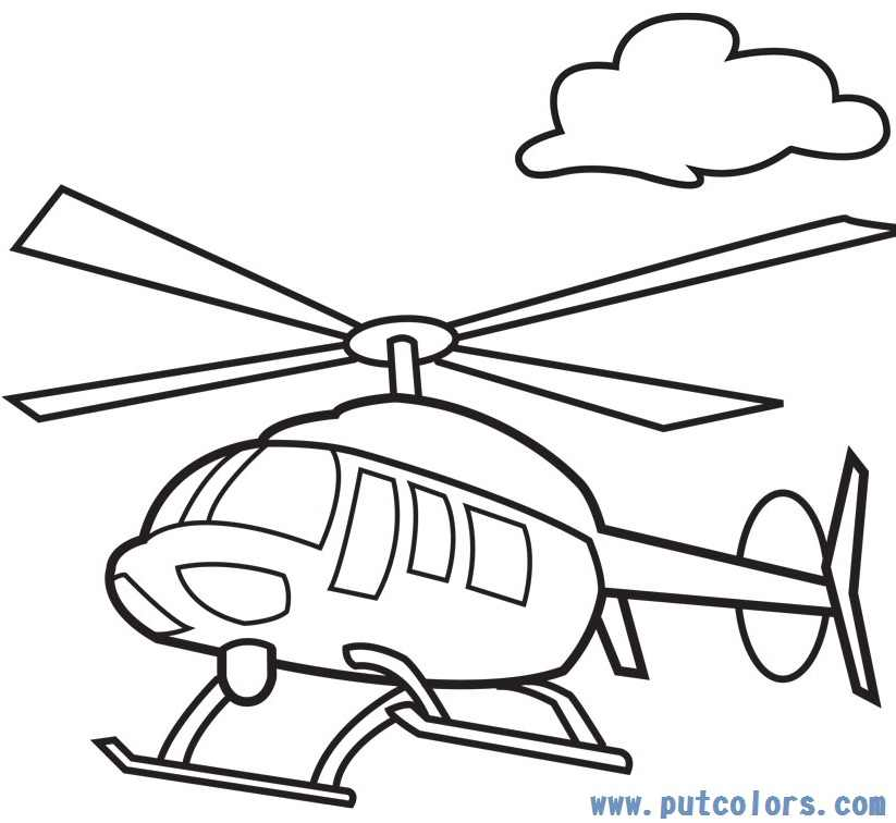 helicopter coloring pages 4