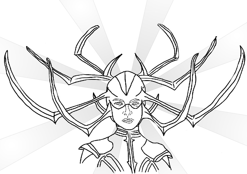 Asgardian Goddess of Death Thors Foe Hela Coloring Pages