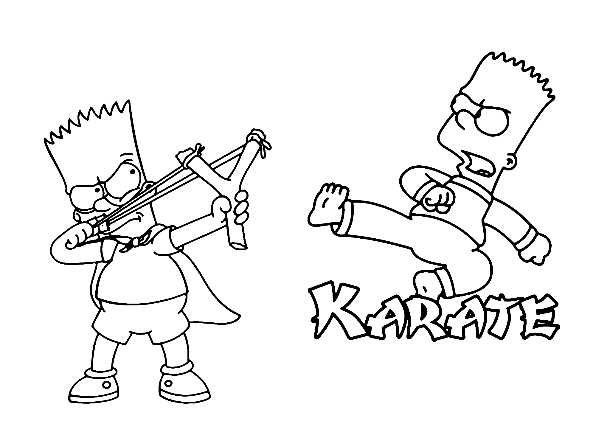 Printable Simpsons Coloring Page