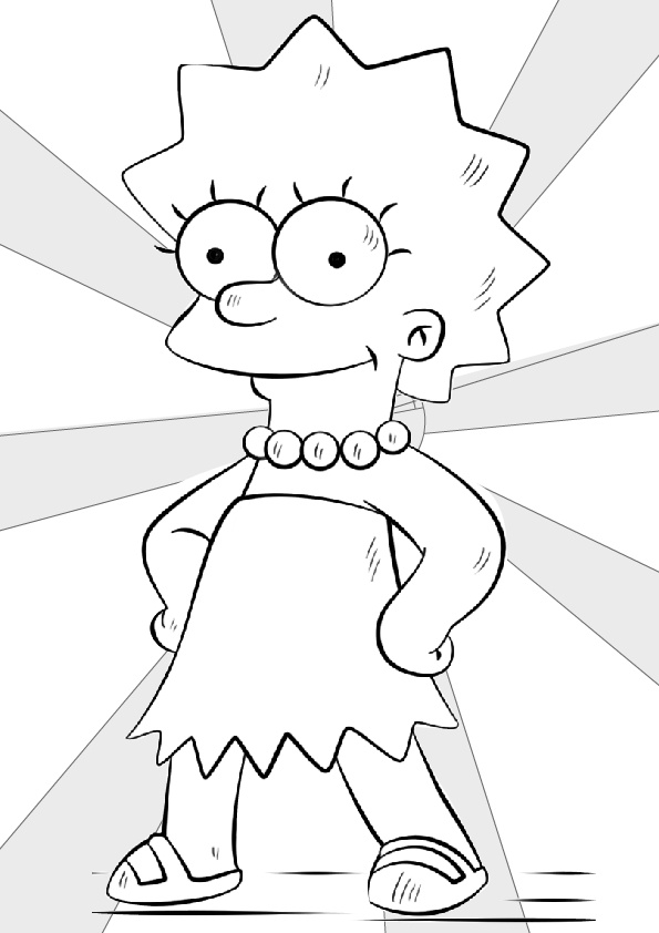 Top 10 Free Printable Simpsons Coloring Pages Online | 842x595