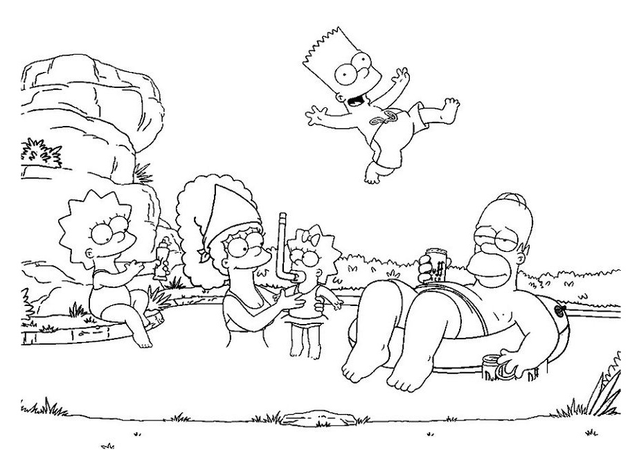 32 Simpsons Coloring Pages: Printable PDF - Print Color Craft