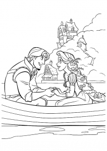 Disney Tangled Coloring Pages: Rapunzel Flynn Rider {All Characters}