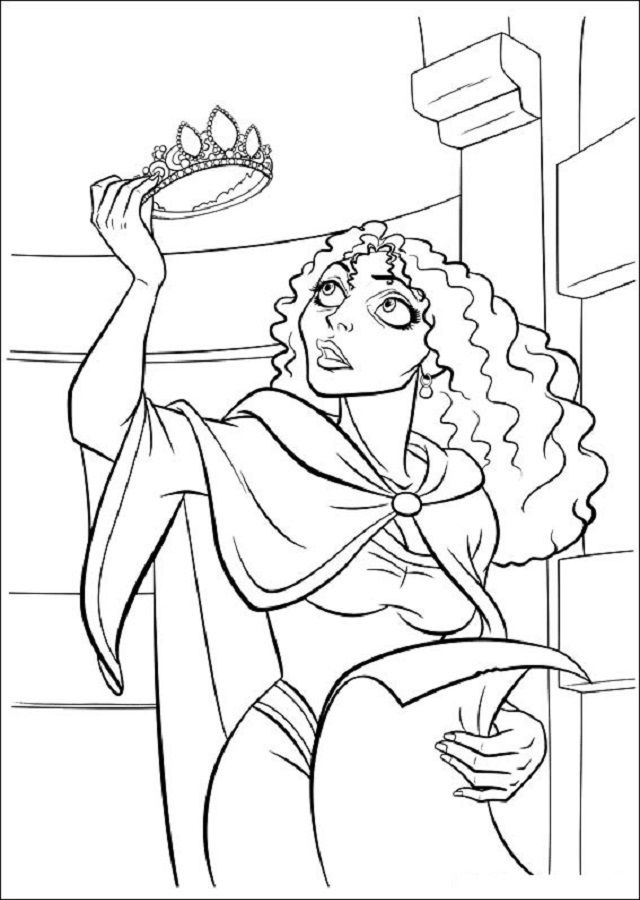 Tangled Mother Gothel Coloring Pages Mother