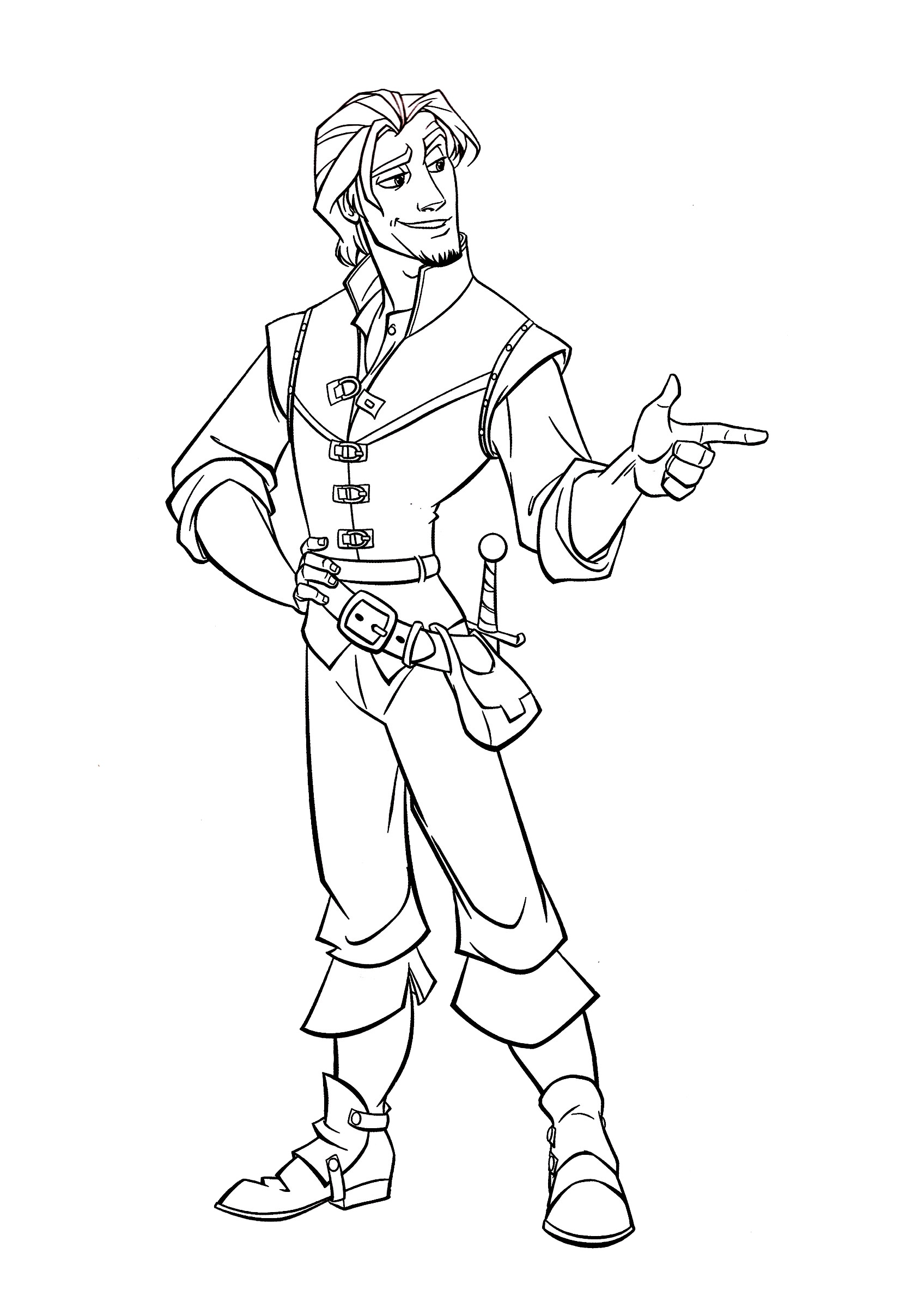 Flynn Rider Coloring Pages Tangled Eugene