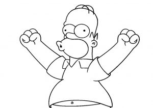 Free Printable Homer Simpson Coloring Pages Homer Simpson Woohoo Expression