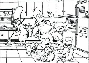 Funny Simpsons Family Free Coloring Pages Simpsons Hard And Difficult Adult Coloring Pages
