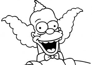 Krusty Simpsons Coloring Pages Green Hair Krusty the Clown Simpsons Animated Cartoon