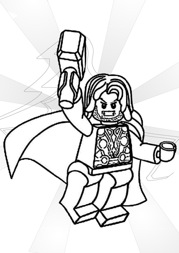 Lego Avenger Thor Coloring Pages