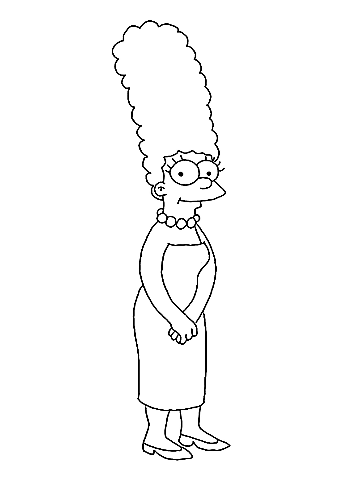 Marge Simpsons Coloring Pages Free Print and Color Sheets