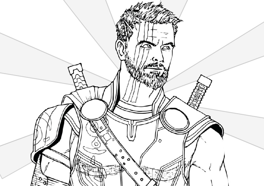 New Look Thor Heir of The Asgard Throne Coloring Pages