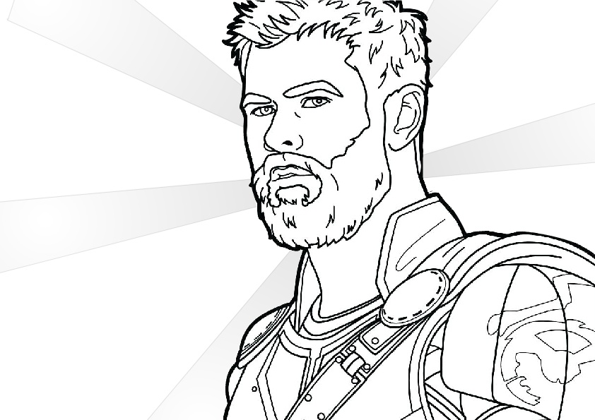 Printable Chris Hemsworth Thor Coloring Pages