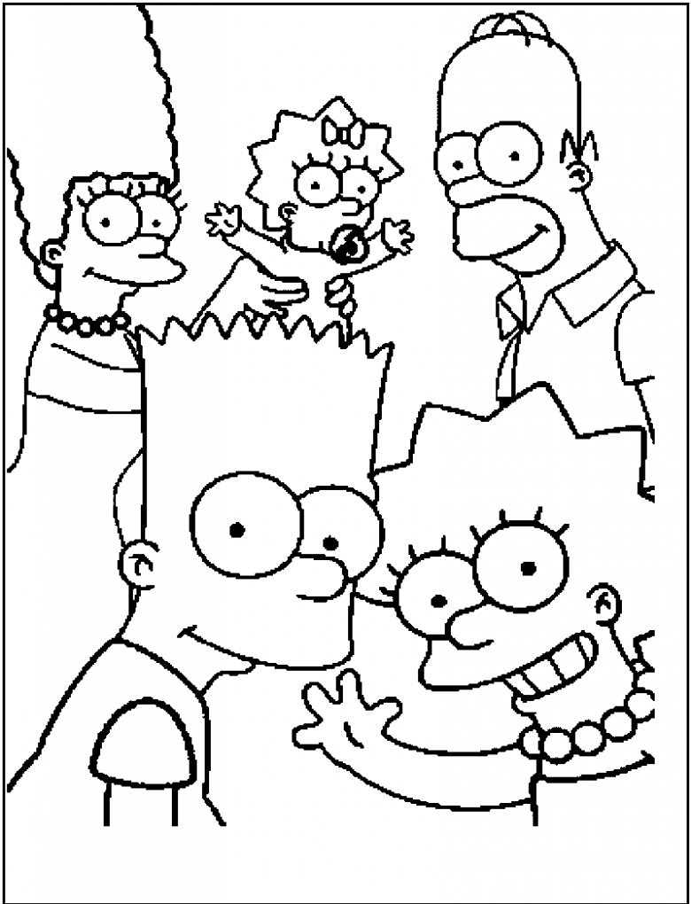 Printable Simpsons Family Coloring Pages