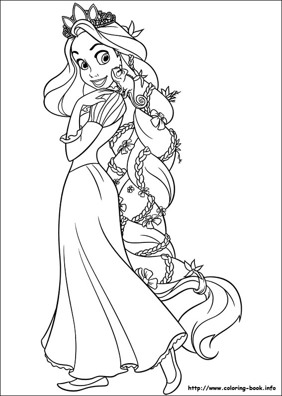 Rapunzel coloring pages (2)