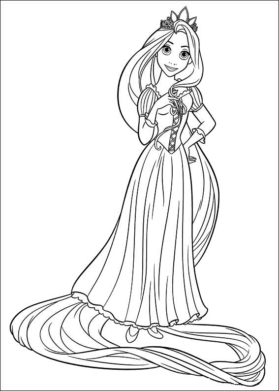 Rapunzel coloring pages (5)