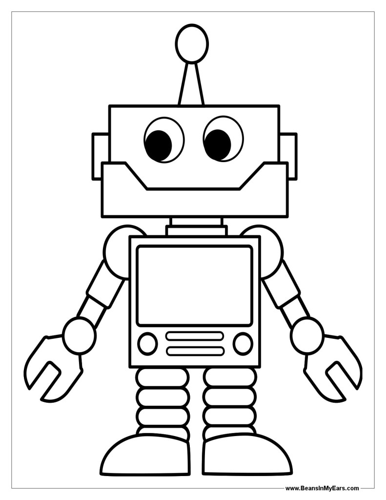 Robots coloring pages (1)