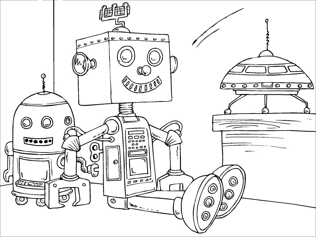 Robots coloring pages (2)