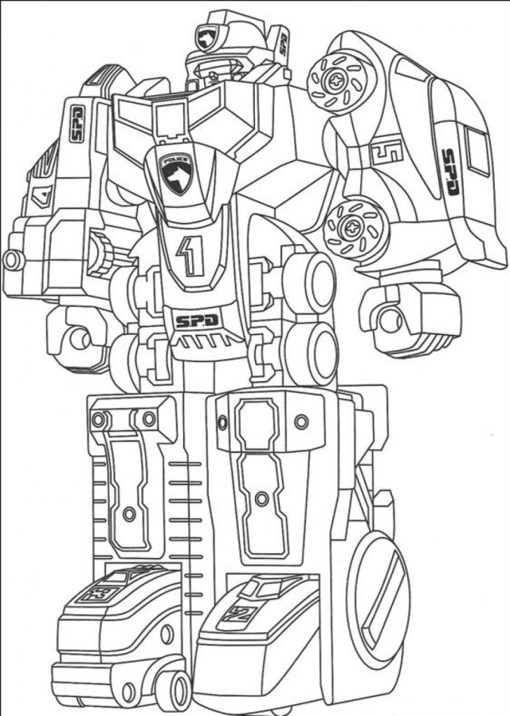 Robots coloring pages (4)