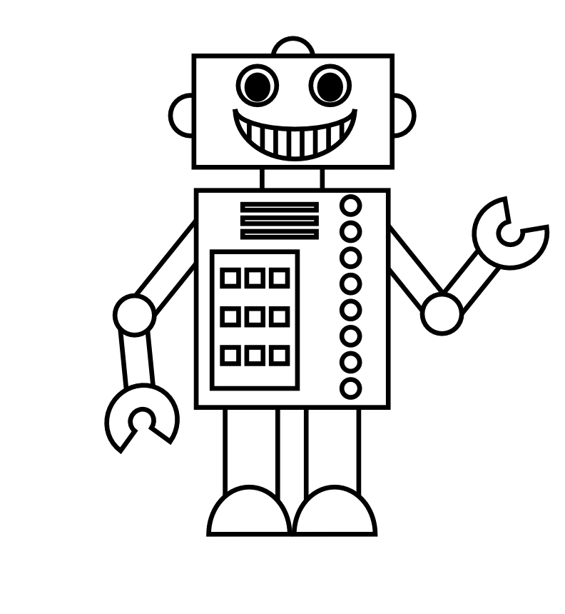 from future robots coloring pages and robot craft ideas