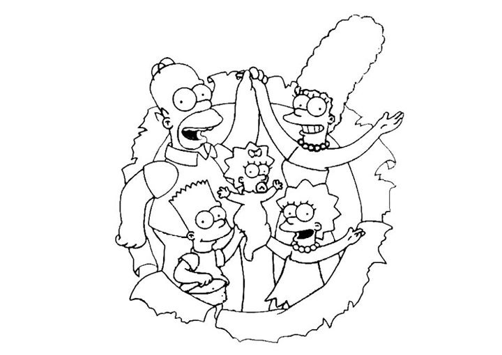 Simpsons Family Coloring Book Pages