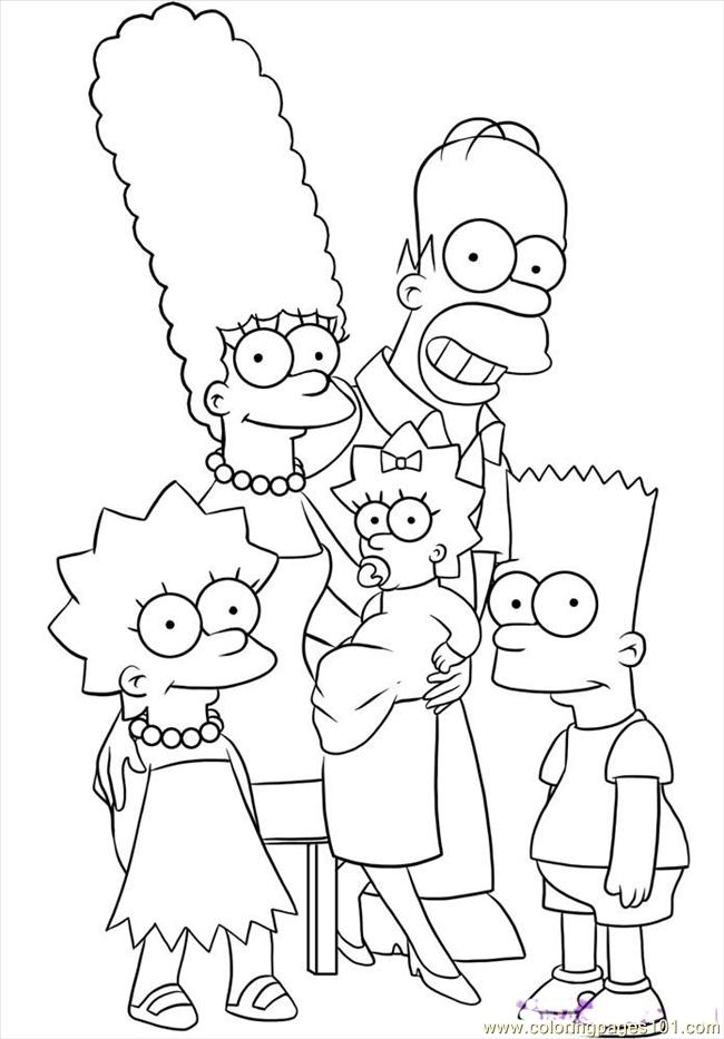 Nuclear Family Coloring Page