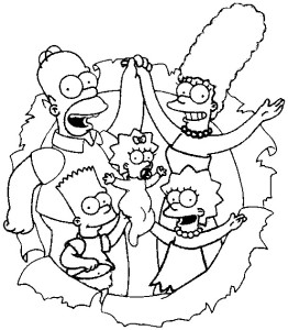 Simpsons coloring pages (5)