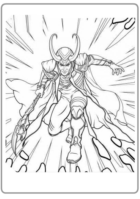 Son of Laufey Frost Giants Ruler_Adapted by Odin Loki Coloring Pages