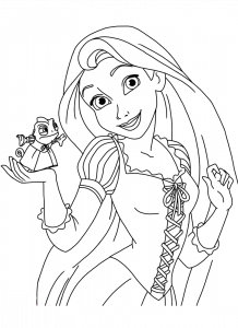 Disney Tangled Coloring Pages for Girls: 38 Princess Rapunzel Pictures