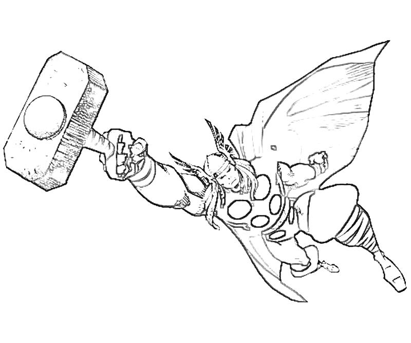 Thor coloring pages (1)