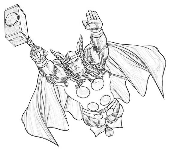 Mighty Avengers Coloring Pages : Superhero coloring pages thor murderthestout