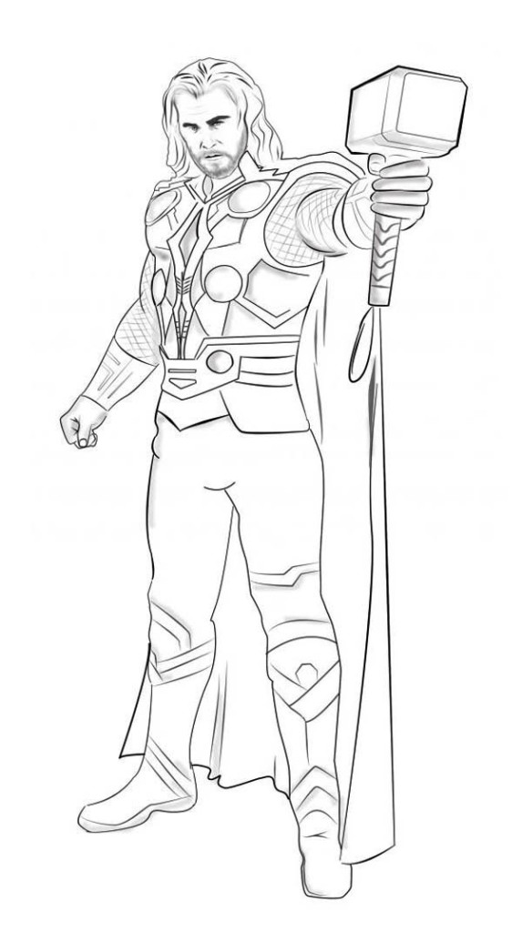 Thor coloring pages (3)