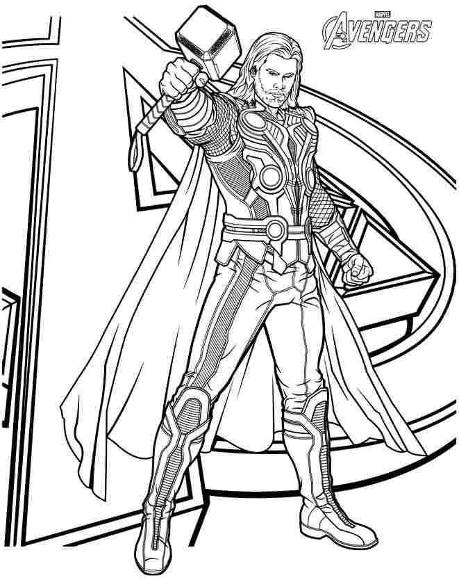 thor coloring pages 7