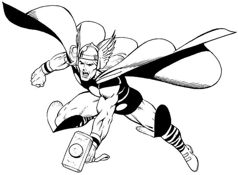 Thor Coloring Pages Print Color Craft Thor Coloring Pages