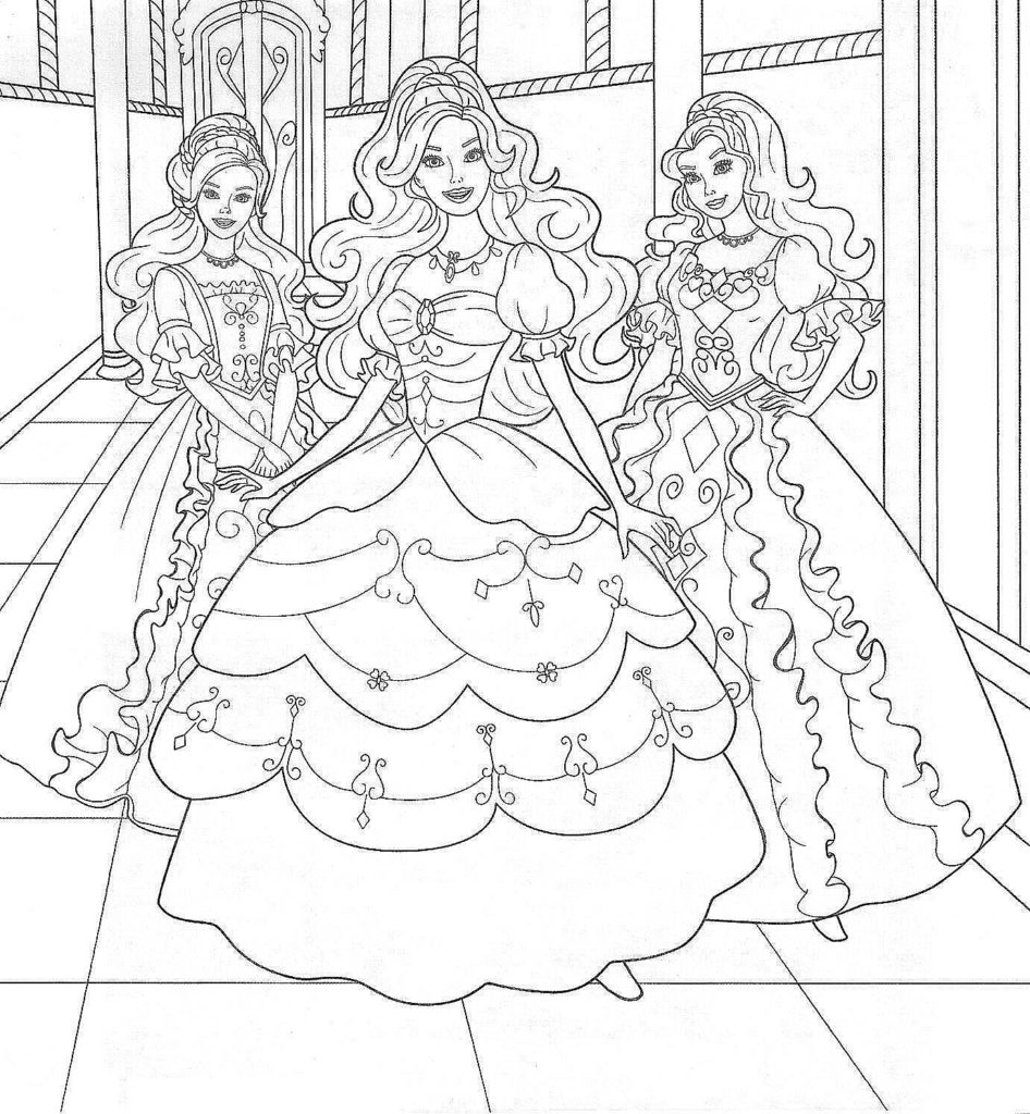 Barbie coloring page (10)