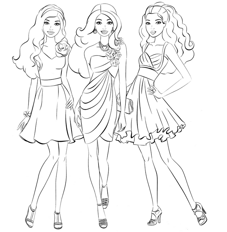Barbie coloring page (14)
