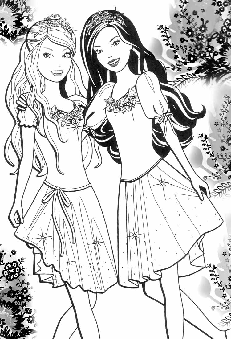 Barbie coloring page (19)