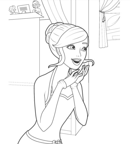 barbie coloring pages for girls