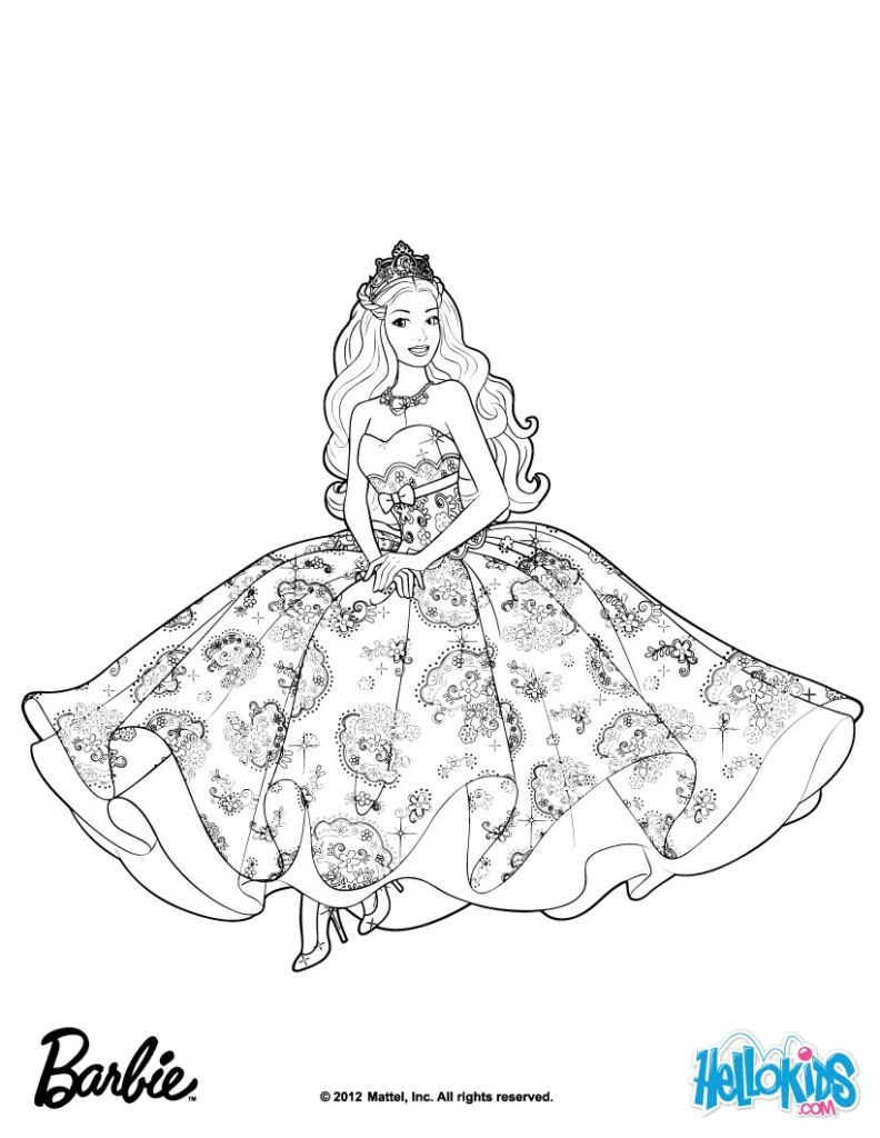 Coloring pages of barbie for kids