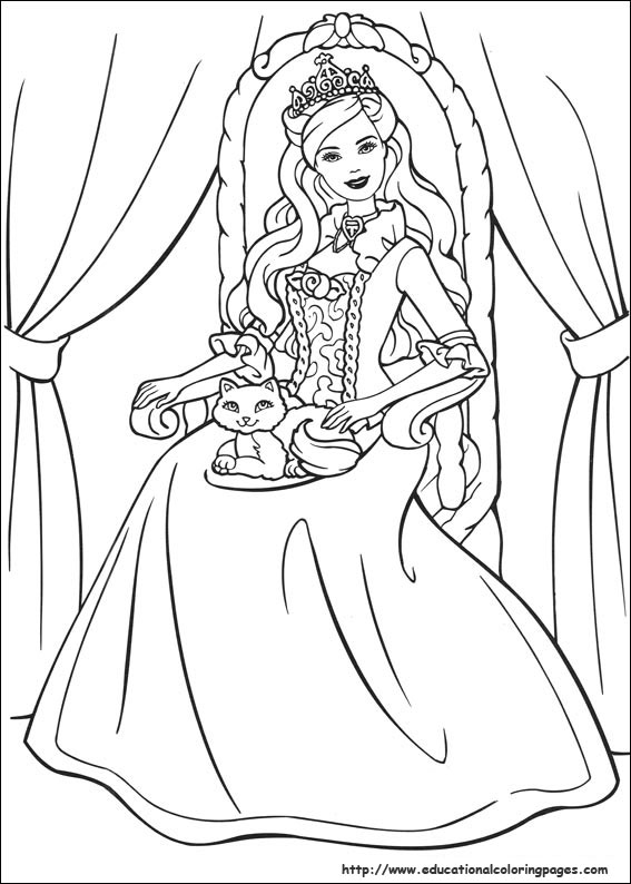 Barbie coloring page (25)