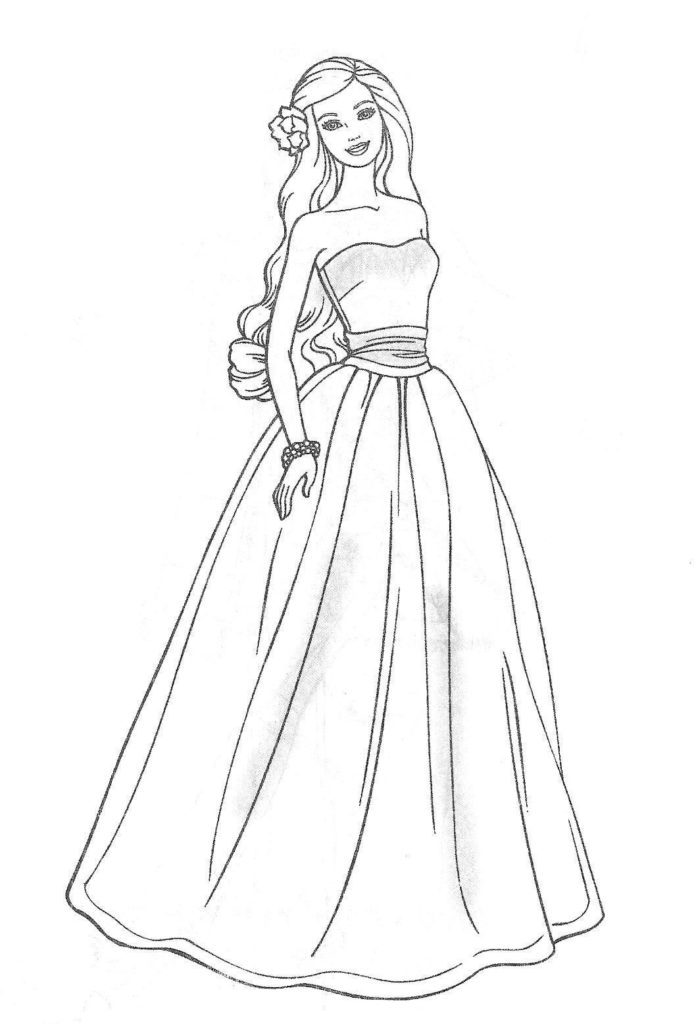 Barbie coloring page (27)