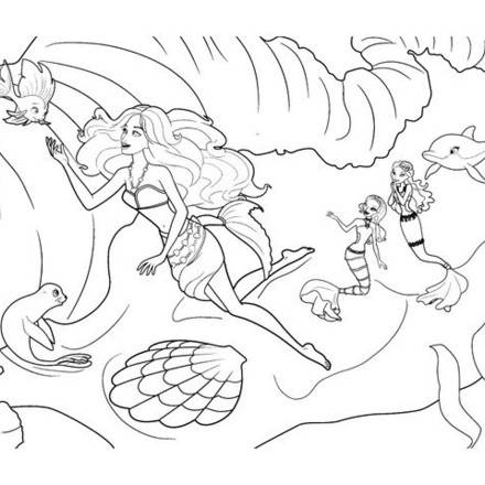 Barbie coloring page (3)