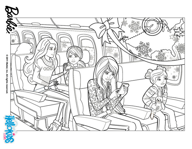Barbie coloring page (30)