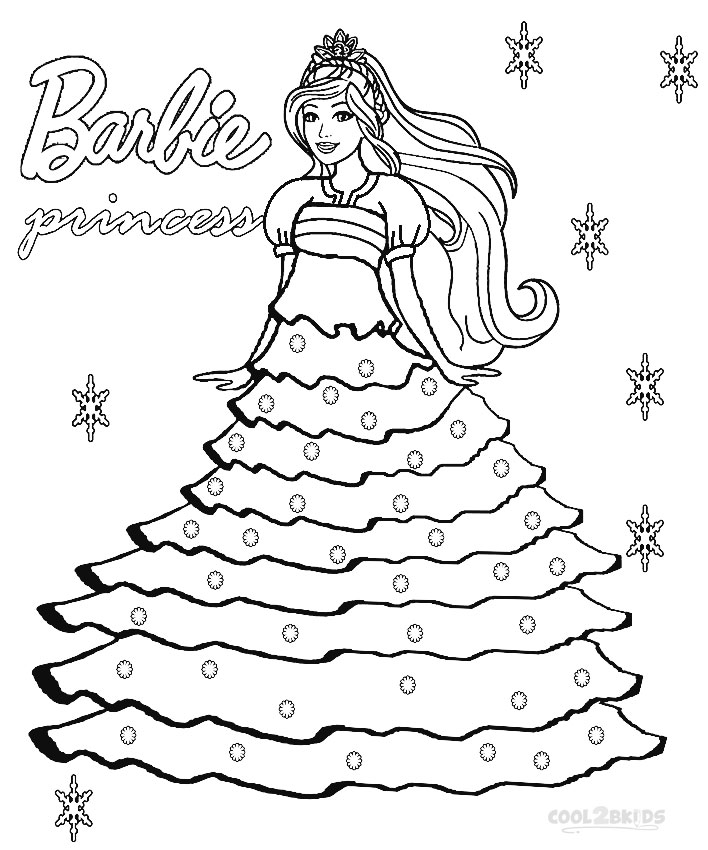 Amazing barbie coloring pages for girls