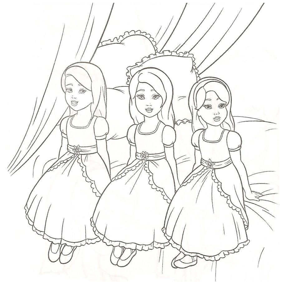 85+ Barbie Coloring Pages for Girls : Barbie Princess , Friends ...
