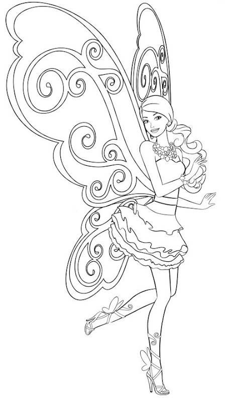 Barbie coloring page (39)