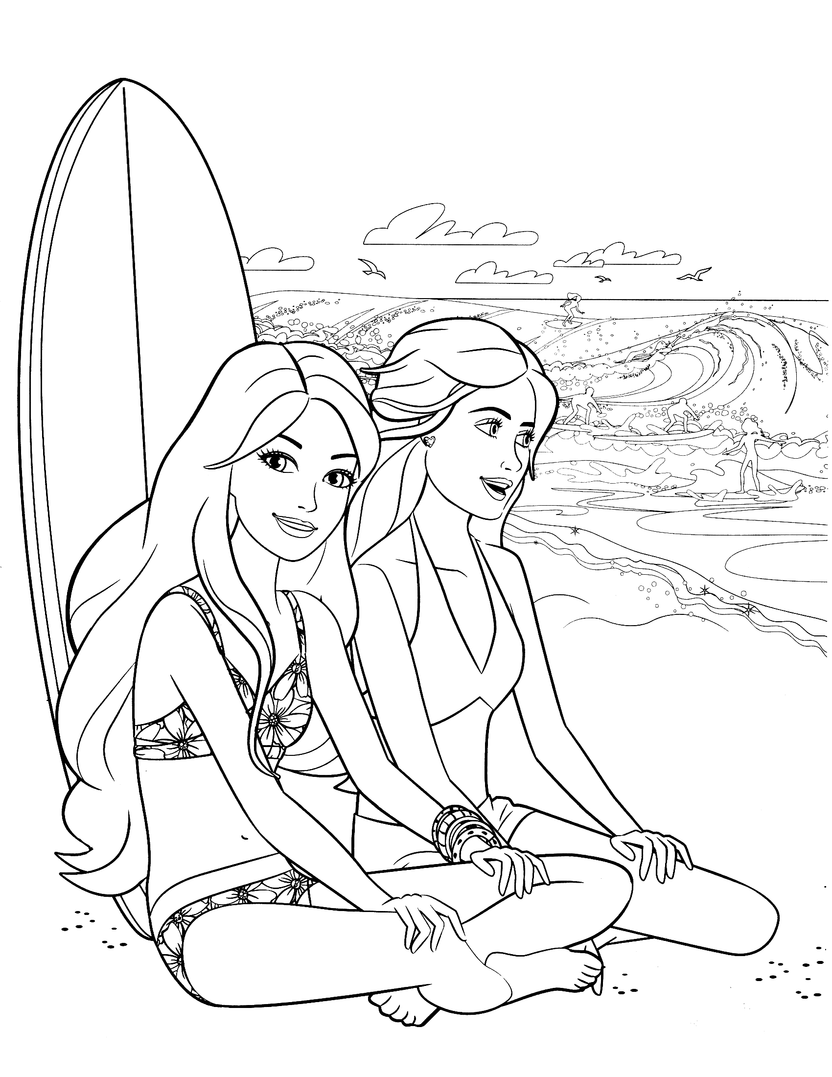 barbie print out coloring pages - photo#18
