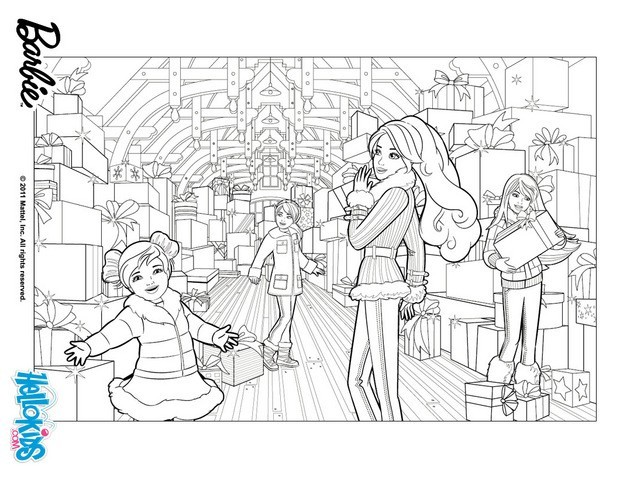 Its Winter snow time babrie coloring page